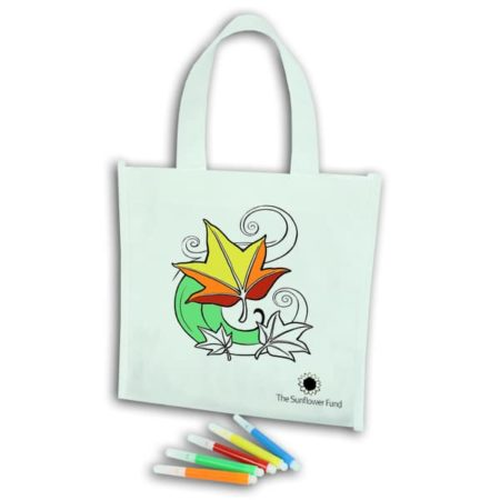 Kids Novelty colouring bag with 1 col