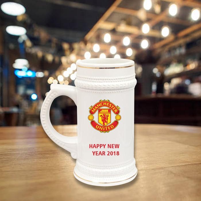 Beer Mug - Gold Rim