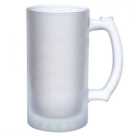 Glass Beer Mug Frosted